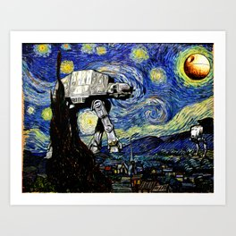 Starry Night versus the Empire Art Print
