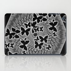 Dark butterfly kaleidoscope iPad Case