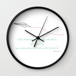 Paper Airplane - You Can Fly - Julep Wall Clock