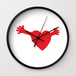 Heart and Hands Wall Clock