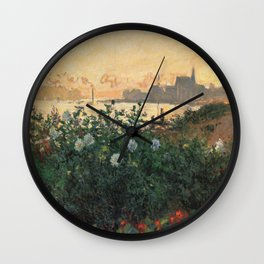 Flowered Riverbank, Argenteuil Wall Clock