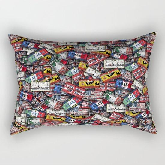 country plates Rectangular Pillow