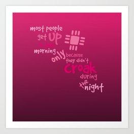 Croak-Pink Art Print
