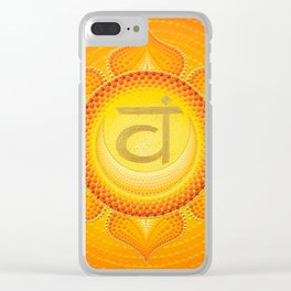 Sacral Chakra painting on canvas Clear iPhone Case