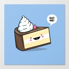 Eat Me! - Wonderland Kawaii Cake Canvas Print
