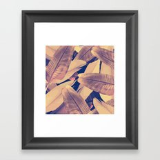 Banana Leaves Sepia Framed Art Print