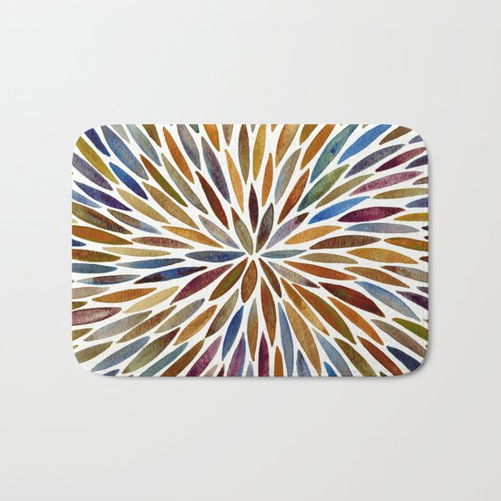 Watercolor Burst – Retro Palette Bath Mat