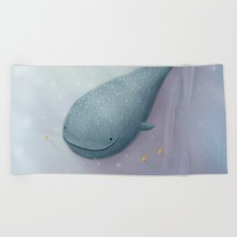 Happy Whale Shark Beach Towel