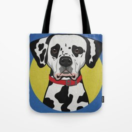 Icons of the Dog Park: Dalmatian Design in Bold Colors for Pet Lovers Tote Bag