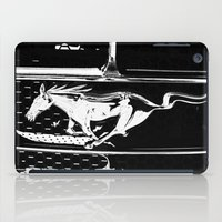mustang iPad Cases featuring Mustang  by Heidi Maly