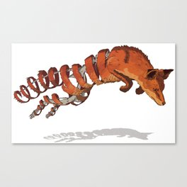 Fox Unravelled Canvas Print