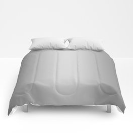 Gray to White Vertical Bilinear Gradient Comforters