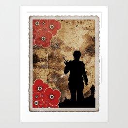 Soldier Silhouette Art Print