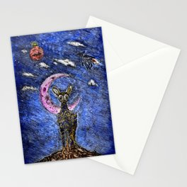 Waxing Crescent  Stationery Cards