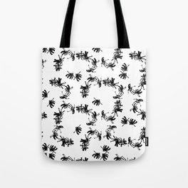Ink Stroke: Black Floral II Tote Bag