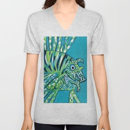 Lion Fish 1, a pretty predator Unisex V-Neck