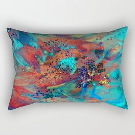 Floral mosaic(4) Rectangular Pillow