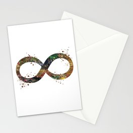Infinity Symbol Art Colorful Ouroboros Watercolor Art Timeless Gift Meditation Art Stationery Cards