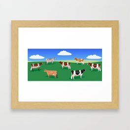 Dairy Breeds // Hillside Framed Art Print