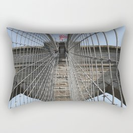 Brooklyn Bridge Cables Rectangular Pillow