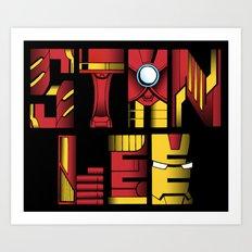 Stan Lee (Iron Man) Art Print
