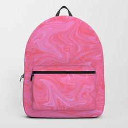 Pink Liquid Marble Backpack