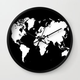 Design 69 world map Wall Clock