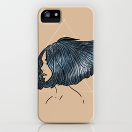 Floating Through Space - Beige iPhone Case