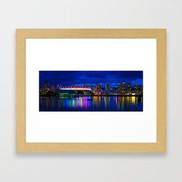 Vancouver at night Framed Art Print