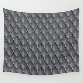 Medieval Fantasy | Metal scales  pattern Wall Tapestry