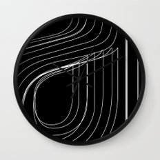 Helvetica Condensed 001 Wall Clock