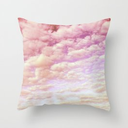 Cotton Candy Sky Throw Pillow