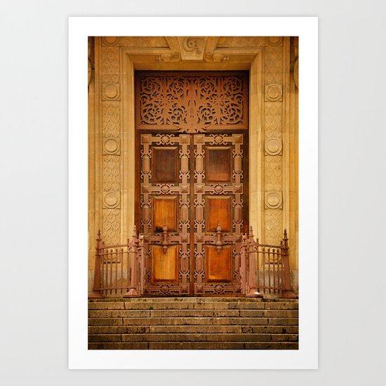 Paris doorway Art Print