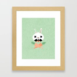 Bunny Death Framed Art Print
