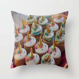 Unicorn Cupcakes Throw Pillow
