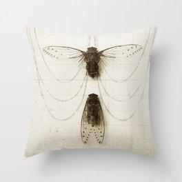 Cicada Pair Throw Pillow