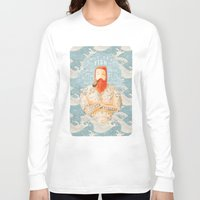 bear Long Sleeve T-shirts featuring Sailor by Seaside Spirit
