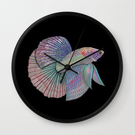 A Beautiful Betta Fish Wall Clock