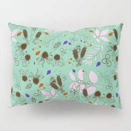 Echinacea mint Pillow Sham