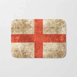 Vintage Aged and Scratched English Flag Bath Mat