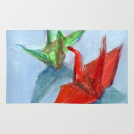 Origami Cranes Rug