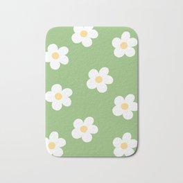 Retro 60's Flower Power Print Bath Mat