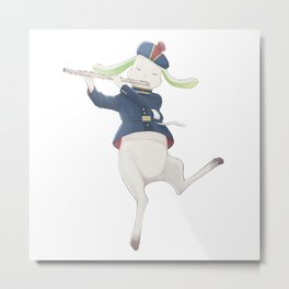 rabbit musician Metal Print