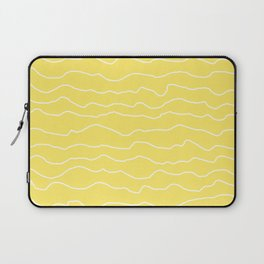 Yellow with White Squiggly Lines Laptop Sleeve