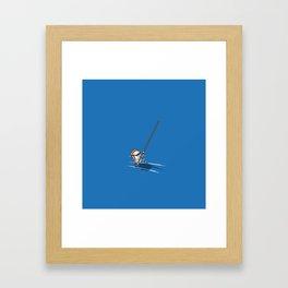 Sushi jump pertiga Framed Art Print