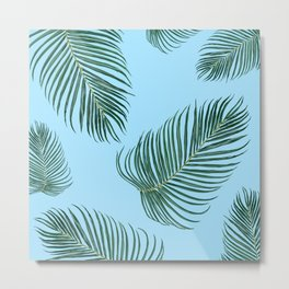 MIAMI PalmTree Leaves Metal Print