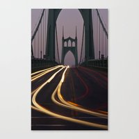 marc johns Canvas Prints featuring St. Johns Bridge II by Cameron Booth