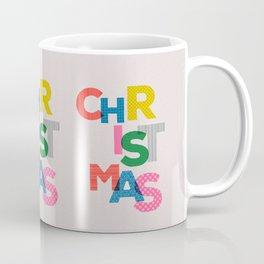 Christmas colorful typography Coffee Mug