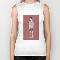 tegan and sara Biker Tanks featuring Tegan and Sara: Sara #1 by Cas.