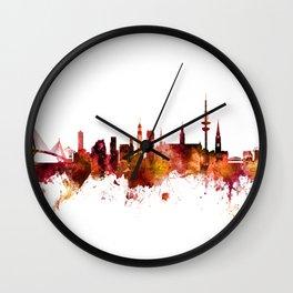 Hamburg Germany Skyline Wall Clock